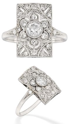Ring roundup: rectangular(ish). - Diamonds in the Library : Diamonds in the Library