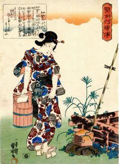 Lorea se aburre. Kimonos y otras cosas interesantes.: Asagao en el periodo Edo