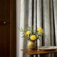 Marigold China Blue/Ivory från William Morris & Co Dream Living Rooms, Designer Wallpaper, Painted Rug, Decor, Window Decor, British Design, Blue China, William Morris, Prints