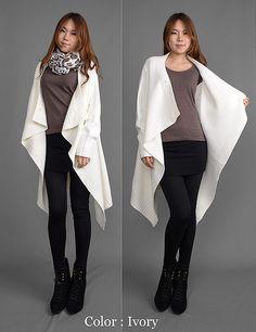 C294-AnnaKastle-New-Womens-Draped-Shawl-Collar-Open-Front-Blanket-Wrap-Cardigan-Ivory-08.jpg (600×779)