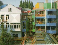 Aldo Van Eyck / Hubertus - Housing for Single Parent Families, Amsterdam, Interior Architecture, Interior And Exterior, Interior Design, Amsterdam, Aldo Van Eyck, Urban Design, Mid-century Modern, Multi Story Building, Mansions