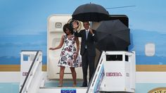 When he landed Sunday in Havana, Obama became the first U.S. president to visit Cuban soil since 1928. During his brief trip he'll be meeting with Cuban President Raul Castro and political dissidents.