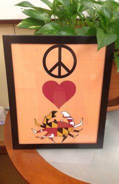 Peace Love Maryland Crab Print. $9.99, via Etsy.