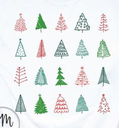 Hand drawn set of christmas trees and quote. holidays background and greetings. abstract doodle drawing woods and text. Christmas Tree Quotes, Christmas Tree Background, Christmas Doodles, Christmas Drawing, Christmas Tree Decorations, Christmas Crafts, Christmas Trees, Etsy Christmas, Xmas