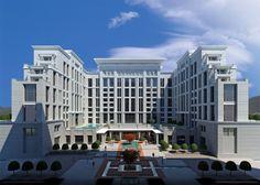 Futuristic Architecture, Classical Architecture, Architecture Design, College Campus, Urban Planning, Grand Hotel, 5 Star Hotels, Facade, Skyscraper