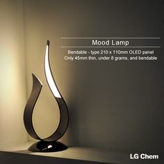 The elegant curve of the OLED lamp is an aesthetic feature that attracts…