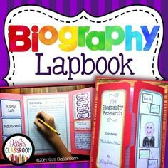Designed with third and fourth graders in mind, this biographies resource includes materials for students to use while conducting research, as well as materials for the presentation of their final writing piece, in a Biography Lapbook.