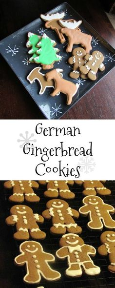 These German Gingerbread Cookies are perfect for Christmas.  You can make gingerbread men, gingerbread moose and of course gingerbread goats! #ChristmasCookies