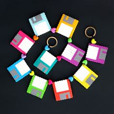 DIY Perler Bead Floppy Disk Crafts!