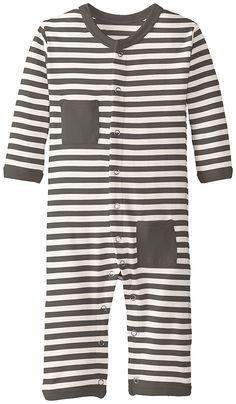 L'ovedbaby Unisex-Baby Newborn Organic Long Sleeve Overall, Bark, 6/9 Months