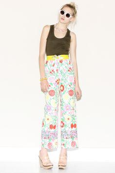 Vintage 1960s Floral Print Pants http://thriftedandmodern.com/vintage-1960s-floral-print-pants