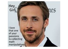 Hey Girl, I love that one of your passions is collecting math manipulatives.