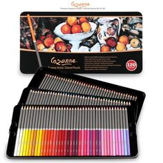 Cezanne Premium Colored Pencils Tin Set of 120 Colored Pencil Holder, Colored Pencils, Professional Art Supplies, State Art, Coloring Books, Vibrant Colors, Best Gifts, Wax, Artsy