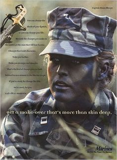 RECRUITING WOMEN MARINES - A make-over that goes further than skin deep.