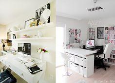 Home office / wymarzone domowe biuro - garść inspiracji (via Bloglovin.com )