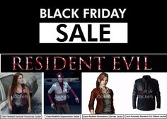 Get a Chance on Black Friday, Here Is Most Wanted Resident Evil Leather Jackets On Store...  #blackfriday #shoppingseason #blackfriday2015 #blackfridaysale #residentevil #darksidechronicles #degeneration #revelations2 #videogame #claireredfield #leonkennedy #leatherjacket #sale