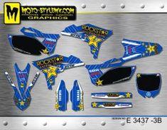 Yamaha YZf 250 '10-'13 - Moto-StyleMX - graphics decals kits Yamaha Yzf, Custom Design, Decals, Graphics, Stickers, Tags, Graphic Design, Sticker, Decal