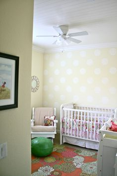 The Color Issue: Cozy Girl's Nursery