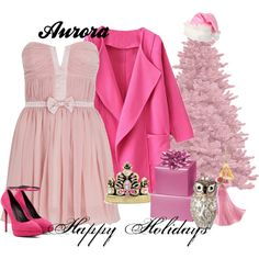 """Aurora Happy Holidays"" by amarie104 on Polyvore"