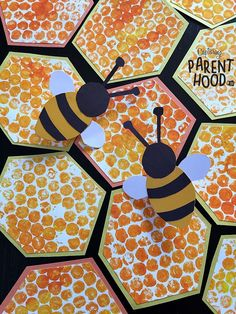 Bubble Wrap Beehive & Paper Bee Rings The bees are constantly buzzing in our yard during the summer months…bouncing from flower to flower, sucking up nectar. Our little nugget started to notice their presence every time we were o Bee Crafts For Kids, Bug Crafts, Summer Crafts, Toddler Crafts, Art For Kids, Bees For Kids, Craft Kids, Insect Crafts, Paper Crafts