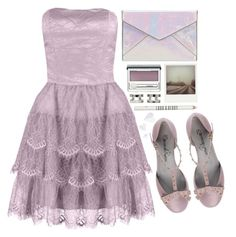 Almost by bellacharlie on Polyvore featuring polyvore, fashion, style, Laona, Emanuela Passeri, Rebecca Minkoff, Maison Margiela, Clinique, Lord & Berry, Polaroid, Prom, purple, lilac, contestentry and promstory