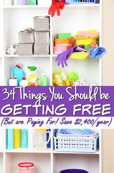 Did you know there are at LEAST 34 things that you are paying for each month that you should be getting for free? These things are costing you $200 a month or $2,400 a year. Put that money back in your pock and start getting these items for free!