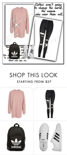 """Untitled #915"" by teszter0528 on Polyvore featuring NLY Trend, Topshop, adidas Originals and adidas"