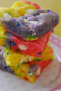 funfetti white chocolate rainbow bars