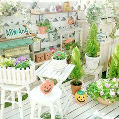 ダイソー/すのこ/DIY/ガーデン雑貨/ベランダガーデン/ハロウィン雑貨…などのインテリア実例 - 2015-10-23 15:13:45 | RoomClip(ルームクリップ)