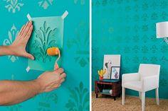 decorar parede stencil - Pesquisa Google