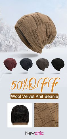 Mens Wool Velvet Knitted Hat Warm Vintage Vogue Winter Outdoor Casual Beanie  is hot sale on Newchic. 3f217f2df2