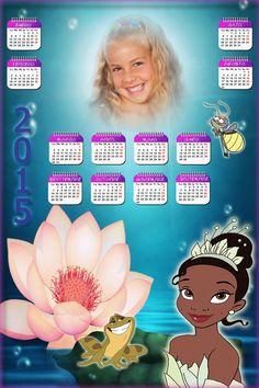 Recursos Photoshop Llanpac: Calendario del 2015 de Tiana y el Sapo (Psd y Png)...