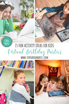 These 15 activity ideas for virtual kids birthday parties are sure to keep your children entertained and having fun even during quarantine or when far away from their friends. Everything from crafts, to karaoke and dance parties! Visit fernandmaple.com to learn more!