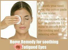 Rose water eye soak