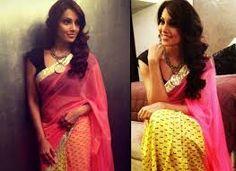 Yellow and Pink Chanderi