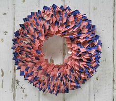 American US Flag Toothpicks Wreath - this looks darling and would be so easy!