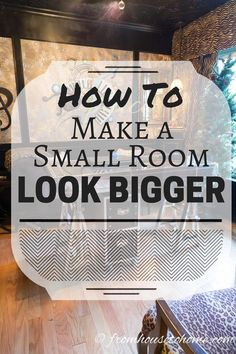 How To Make A Small Room Look Bigger: 20 Small Space Decorating Ideas - I love these small room decorating ideas! Such simple ways to give the illusion of more space than there is and make a small room look bigger. Interior Decorating Tips, Decorating Small Spaces, Interior Design Living Room, Living Room Designs, Decorating Ideas, Rental House Decorating, Decor Ideas, Ikea Ideas, Decorating Kitchen