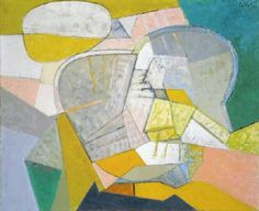 Maurice Estève (1904-2001, French painter of abstract art), Vielle et cornemuse