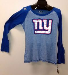 Women's New York NY Giants Bling Sparkle Jersey Tee Tshirt or Long ...