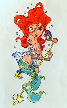 Ariel/An expansion on a Tim Shumate original by TheKemper.deviantart.com on @deviantART