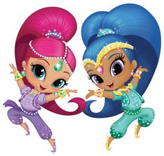 Bougies Personnages 4er SHIMMER /& SHINE