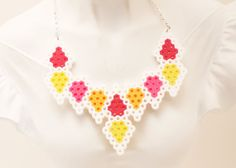 Geometric Shapes Perler Bead Necklace by NefariousLaboratory