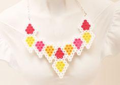 Geometric Shapes Perler Bead Necklace by NefariousLaboratory