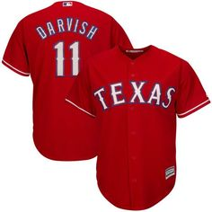 Yu Darvish Texas Rangers Majestic Alternate Official Cool Base Player Jersey - Red - $119.99