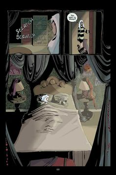 "a page from ""An Aurora Grimeon Story: Will O' the Wisp""  #comic #comicbook #art #illustration #WillOtheWisp #aurora #missy #victorian #bedroom"