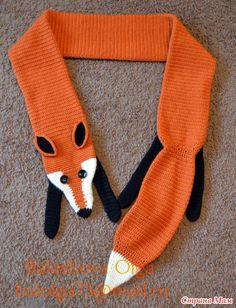 Схема вязания шарфа лисы спицами 965