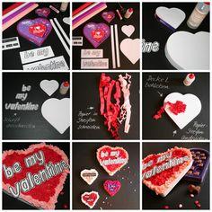 Valentinstag Schoko Herz Verpackung Kreppband diy, valentinesday, Liebe, selbermachen, basteln, be my valentine Tutorial Anleitung