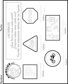 La señales - #formas #matematicas #math #shapes #lados #colorea #kids