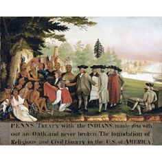 Penns Treaty With The Indians Canvas Art - Edward Hicks (20 x 24)