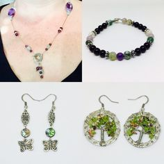 New inventory! https://www.etsy.com/shop/IntuitiveAdornments https://www.amazon.com/handmade/Intuitive-Adornments #AmethystNecklace #AquamarineNecklace #JasperBracelet #ButterflyEarrings #AbaloneEarrings #TreeofLifeEarrings #PeridotEarrings #IntuitiveAdornments